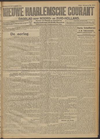 Nieuwe Haarlemsche Courant 1914-09-25