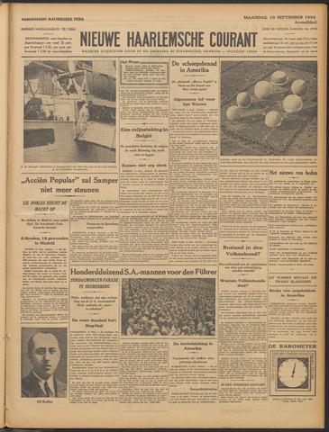 Nieuwe Haarlemsche Courant 1934-09-10