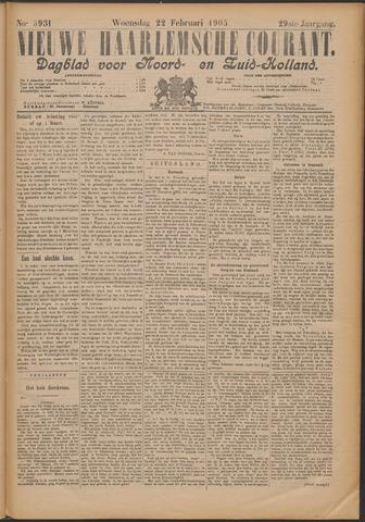 Nieuwe Haarlemsche Courant 1905-02-22
