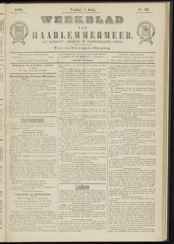 Weekblad van Haarlemmermeer 1883-06-01