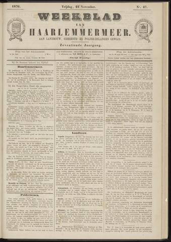 Weekblad van Haarlemmermeer 1876-11-24