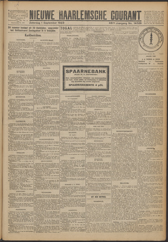 Nieuwe Haarlemsche Courant 1923-09-01