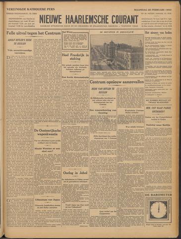 Nieuwe Haarlemsche Courant 1933-02-20