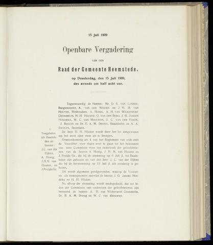 Raadsnotulen Heemstede 1909-07-15