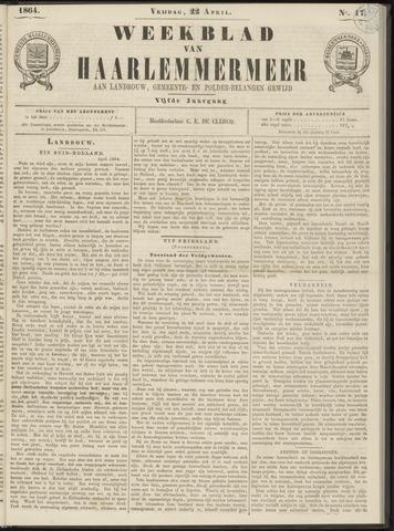Weekblad van Haarlemmermeer 1864-04-22
