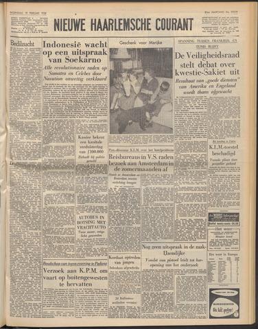 Nieuwe Haarlemsche Courant 1958-02-19