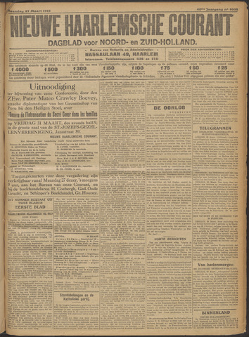 Nieuwe Haarlemsche Courant 1916-03-27
