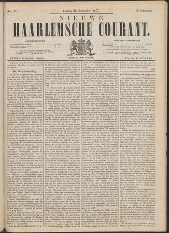 Nieuwe Haarlemsche Courant 1877-11-25