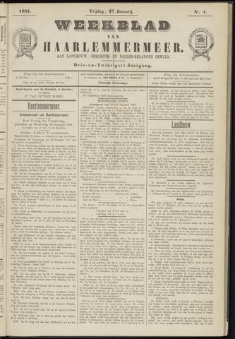 Weekblad van Haarlemmermeer 1882-01-27