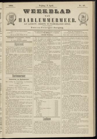 Weekblad van Haarlemmermeer 1881-04-01
