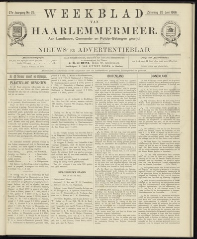 Weekblad van Haarlemmermeer 1886-06-26
