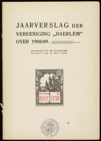 Jaarverslagen en Jaarboeken Vereniging Haerlem 1908