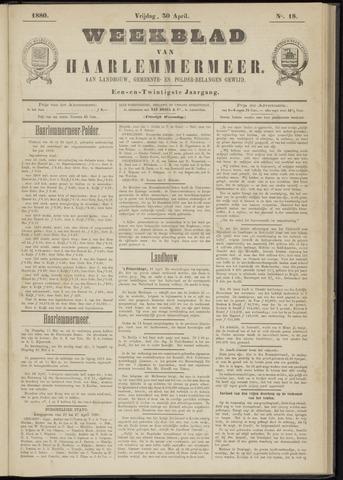 Weekblad van Haarlemmermeer 1880-04-30