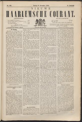 Nieuwe Haarlemsche Courant 1884-12-28