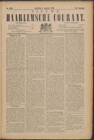 Nieuwe Haarlemsche Courant 1886-08-05