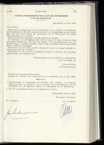 Raadsnotulen Heemstede 1967-06-29