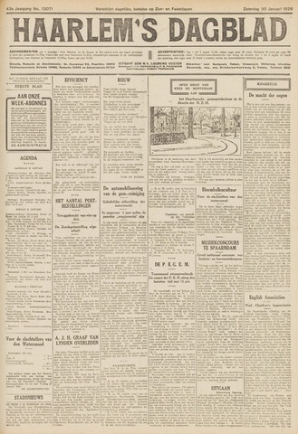 Haarlem's Dagblad 1926-01-30