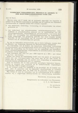 Raadsnotulen Heemstede 1959-11-26