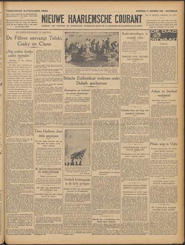 Nieuwe Haarlemsche Courant 1940-11-21