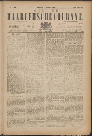 Nieuwe Haarlemsche Courant 1888-02-22