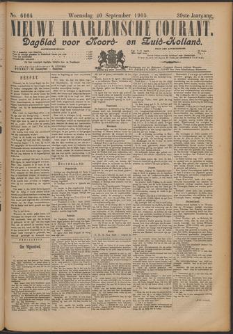 Nieuwe Haarlemsche Courant 1905-09-20