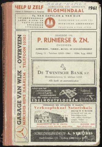 Adresboeken Bloemendaal 1961