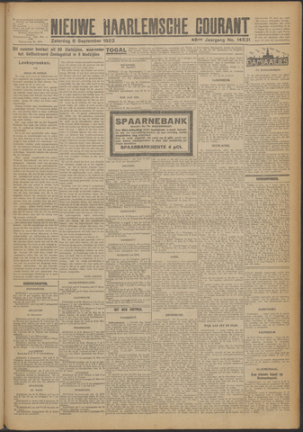 Nieuwe Haarlemsche Courant 1923-09-08