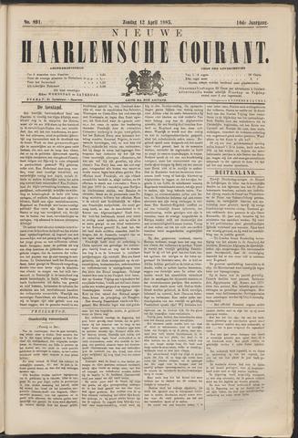 Nieuwe Haarlemsche Courant 1885-04-12