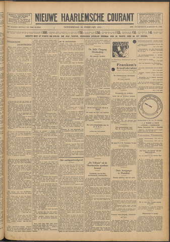 Nieuwe Haarlemsche Courant 1931-02-26