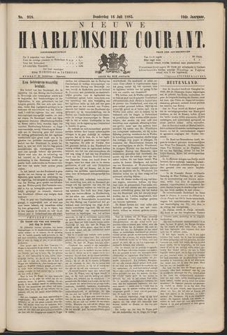 Nieuwe Haarlemsche Courant 1885-07-16