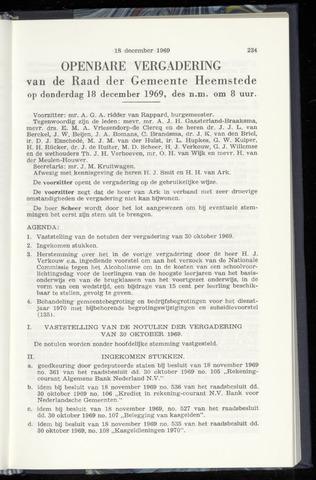 Raadsnotulen Heemstede 1969-12-18