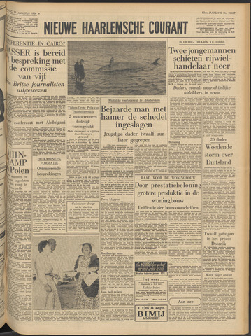 Nieuwe Haarlemsche Courant 1956-08-27