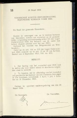 Raadsnotulen Heemstede 1936-03-26