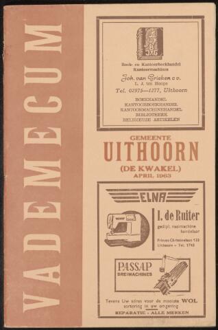 Adresboeken Uithoorn 1963-04-01