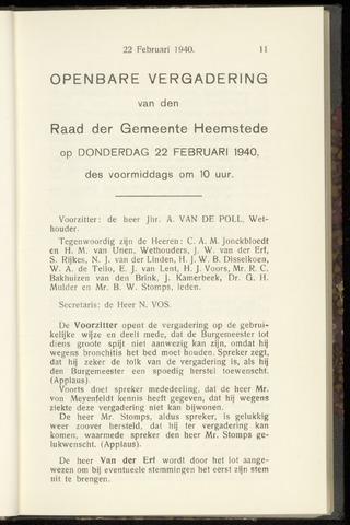 Raadsnotulen Heemstede 1940-02-22