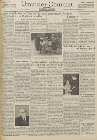 IJmuider Courant 1948-10-29