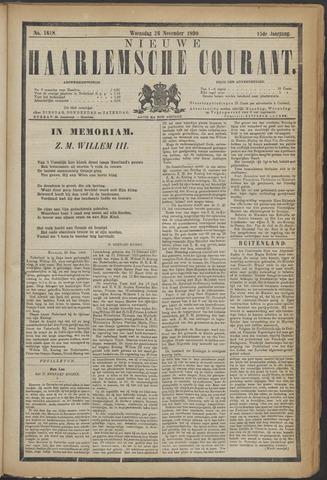 Nieuwe Haarlemsche Courant 1890-11-26