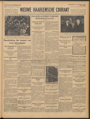 Nieuwe Haarlemsche Courant 1935-01-07