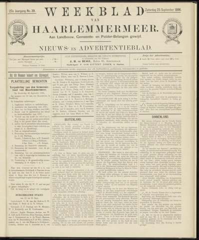 Weekblad van Haarlemmermeer 1886-09-25