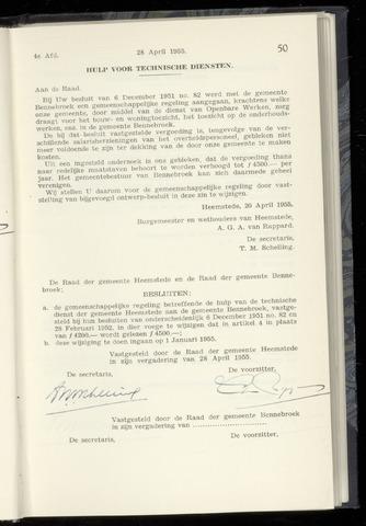 Raadsnotulen Heemstede 1955-04-28