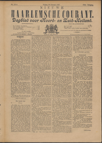 Nieuwe Haarlemsche Courant 1897-02-26