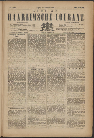 Nieuwe Haarlemsche Courant 1889-11-15