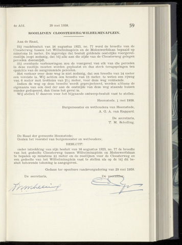 Raadsnotulen Heemstede 1958-05-29