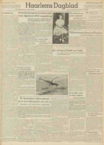 Haarlem's Dagblad 1947-08-21