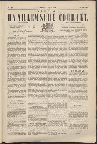 Nieuwe Haarlemsche Courant 1884-04-20