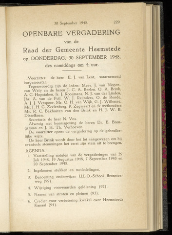 Raadsnotulen Heemstede 1948-09-30
