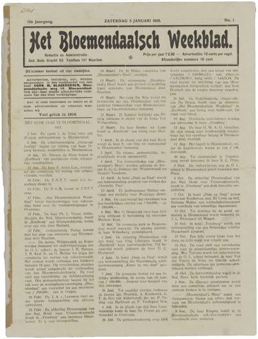 Het Bloemendaalsch Weekblad 1918