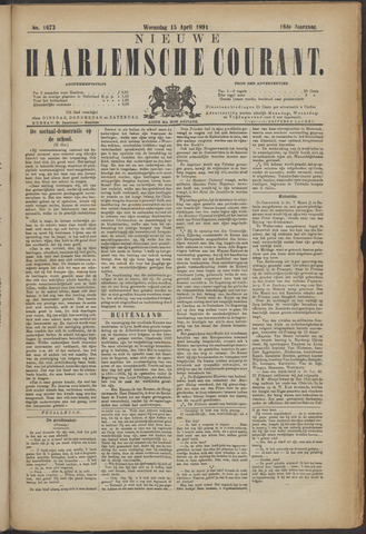 Nieuwe Haarlemsche Courant 1891-04-15