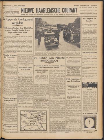 Nieuwe Haarlemsche Courant 1939-09-13