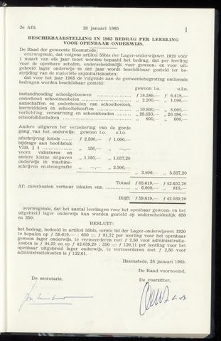 Raadsnotulen Heemstede 1965-01-28